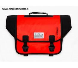 Brompton O Bag aanbieding rood zonder bagageclip