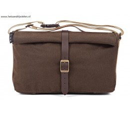 Brompton ROLLTOP BAG Waxed Canvas bruin