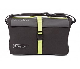 Brompton Rolltop Bag Grey/Black/lime