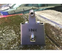 H&H Titanium Bidon adapter grit Donker