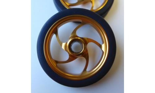 MiniMods EZ Wheels met lagers, spaakdesign, Goud