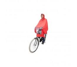 Hoodie Poncho rood