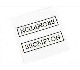 Brompton frame logo Zwart