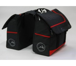 Dubbele tas Berkel antraciet/rood