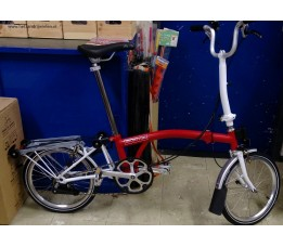 Brompton H6R+BVL+ZPX DEMO, Rood/wit