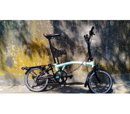 Brompton BE M6R, turquoise/Black