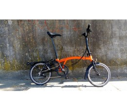 Brompton BE M6RN+HSU, Oranje/zwart