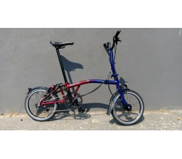 Brompton 9 Straatjes limited edition, special paint rood/blauw