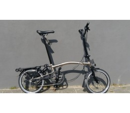 Brompton BE H6R+ZPX+FCB, Nickel/zwart