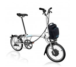 Brompton Electric H6L, Glossy white