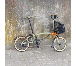 Brompton Explorer M6 L, Forest Drab/explore Orange