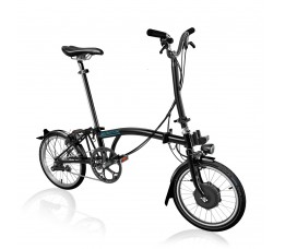 Brompton Electric H6L+SPT, Glossy Black